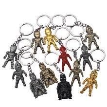 Iron Man Statuette Key chain Avengers iron Superhero Keychains Suitable For Men or Women Bag car Metal Pendant Ring