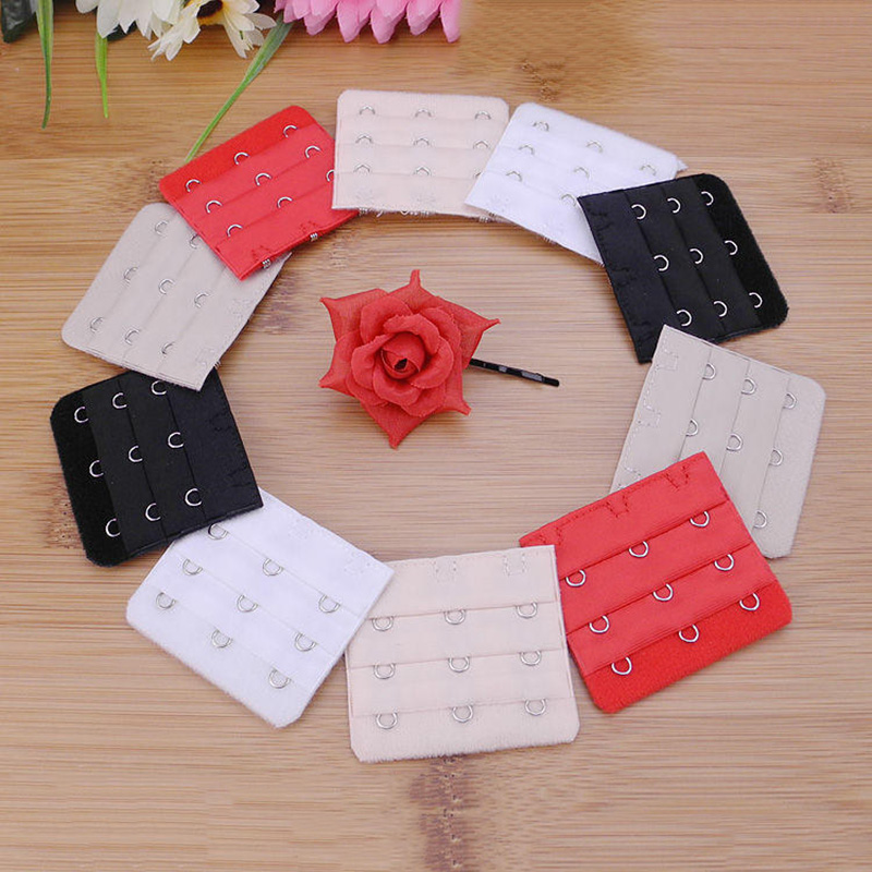 1PCS 3 Hooks 3 Rows Bra Extenders Strap Extension    For Women's Soft  Adjustable Belt Buckle Underwear Belt Bras Accessories