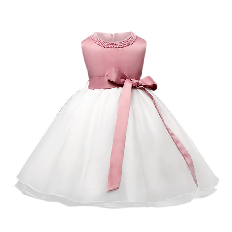 Infant Baby Girl Dress Wedding Foemal Sleeveless Vestido Gown Dress For Girl Baby Clothes Dresses ...