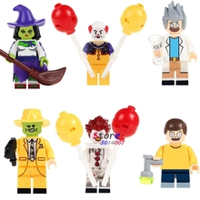 Single Witch the Mask Magical Comedy TV Cahracter Halloween Pennywise Joker Rick Morty building blocks bricks toys for children