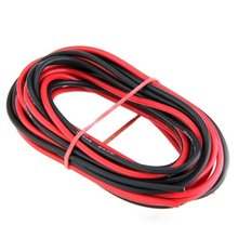 New Style 2x 3M 16 Gauge AWG Silicone Rubber Wire Cable Red Black Flexible