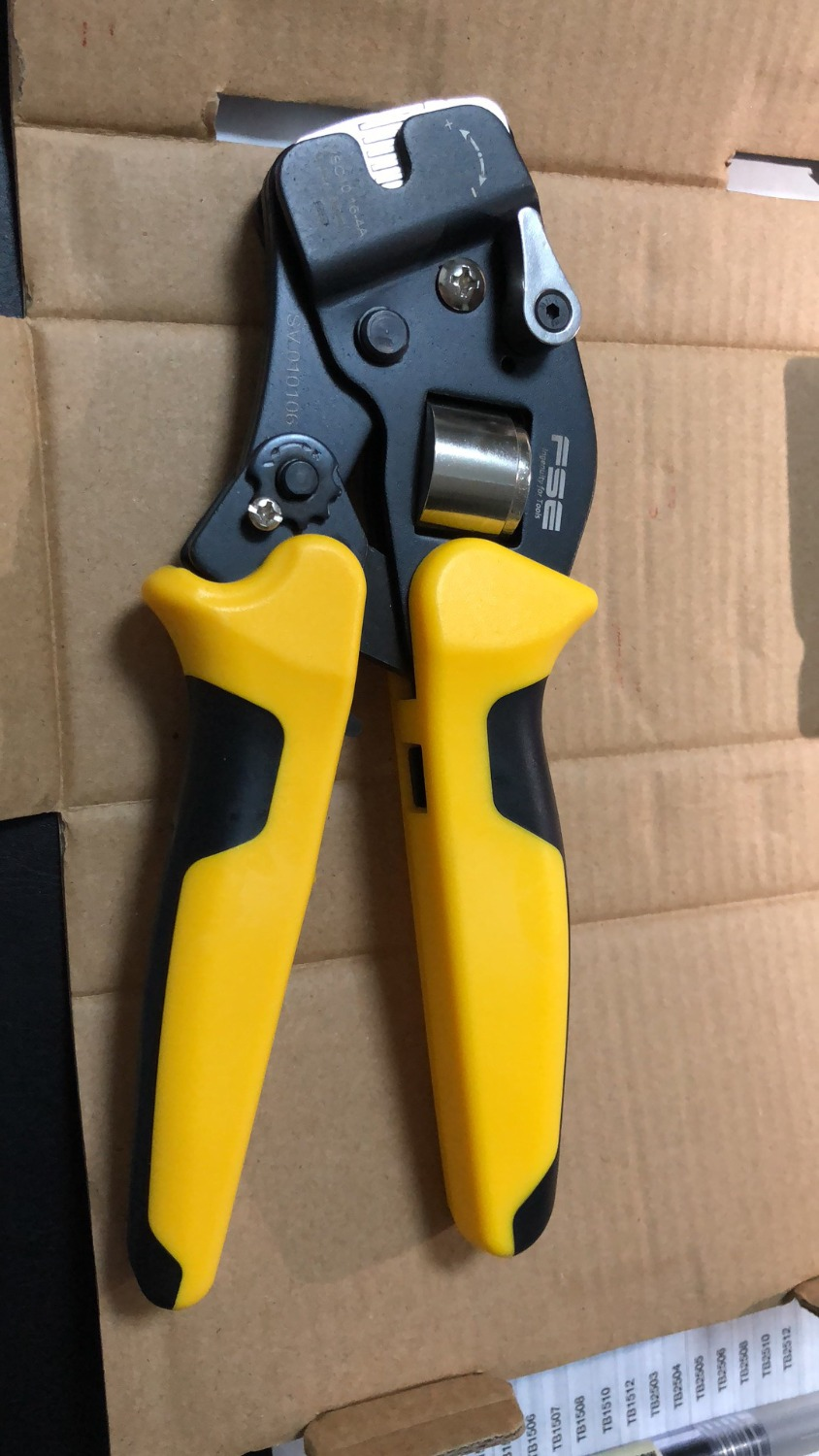 1PCS HSC10 16-4A 23-5 AWG Suyep Mini-Type Self-Adjustable Crimping Plier 1pcs hsc8 16 4 11 5 awg suyep mini type self adjustable crimping plier application for tubular bare terminals and pre insulated