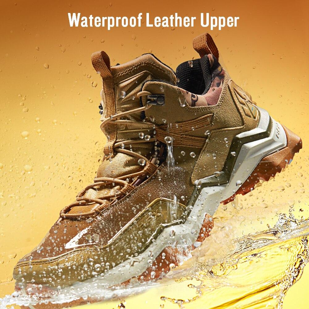 RAX Для мужчин; водонепроницаемые туристические ботинки Для женщин восхождение походы ботинки Мужская Уличная обувь нескользящие горные кр...