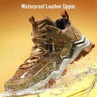 RAX impermeable de los hombres zapatos de senderismo zapatos de mujeres escalada mochila Trekking botas hombres zapatos al aire libre zapatos Anti-slip montaña zapatillas de deporte de los hombres