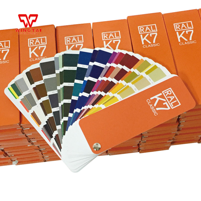 Original Geman RAL K7 Color Card 213 Kinds Of Paint Coating Shade Card