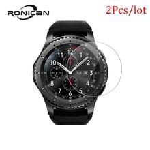 삼성 기어 s3 클래식 강화 유리 울트라 cltra 9 h 삼성 기어 s3 프론티어 smartwatch 필름 화면 보호기에 대한 2 조각