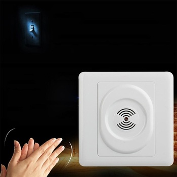 Smart 220V Sound Light Control Switch Time Delay Wall Switch Wall Mount Energy-Saving Wall Pad wholesale polo luxury wall switch light switch sound and light control time delay switch champagne black color ac 110 250v