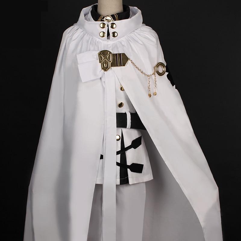Top Quality Anime Seraph Of The End Owari no Seraph Mikaela Hyakuya Cosplay Costume Full Set Uniform Cloak Fancy Ball Party Suit