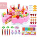 2017 37Pcs Xmas Toy Birthday Cake Toy DIY Fruit Cream Christmas Gift Set Children Kids Pretend Play Toys set