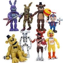 4 adet Beş Nights freddynin 4 Serisi PVC Action Figure Seti 4.5 6.5 cm Freddy Fazbear Bonnie chica Foxy Kardeş Konumu Bebek