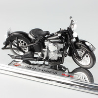 1 18 Scale Mini Kids Harley 1948 FL PANHEAD Glide Twins Diecast Model Motorcycle Toys Motorbike
