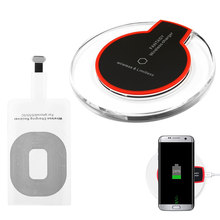 Qi Wireless Charger Charging Power Pad Stand Ultra-thin Receiver Module for Apple iPhone 7 6 6S S Plus 5S 5 SE(China)