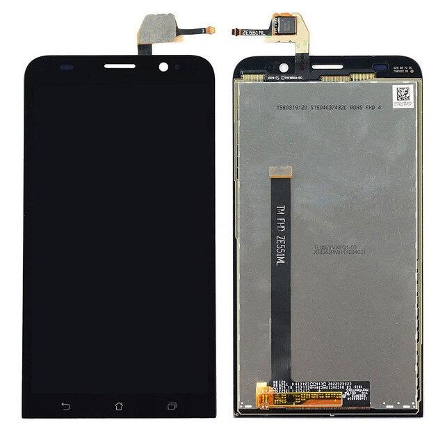 """Para asus zenfone 2 ze551ml 5.5 """"1080x1920 Completo Painel de Vidro Sensor Digitador da Tela de Toque + Display LCD Tela Do Monitor de Montagem"""