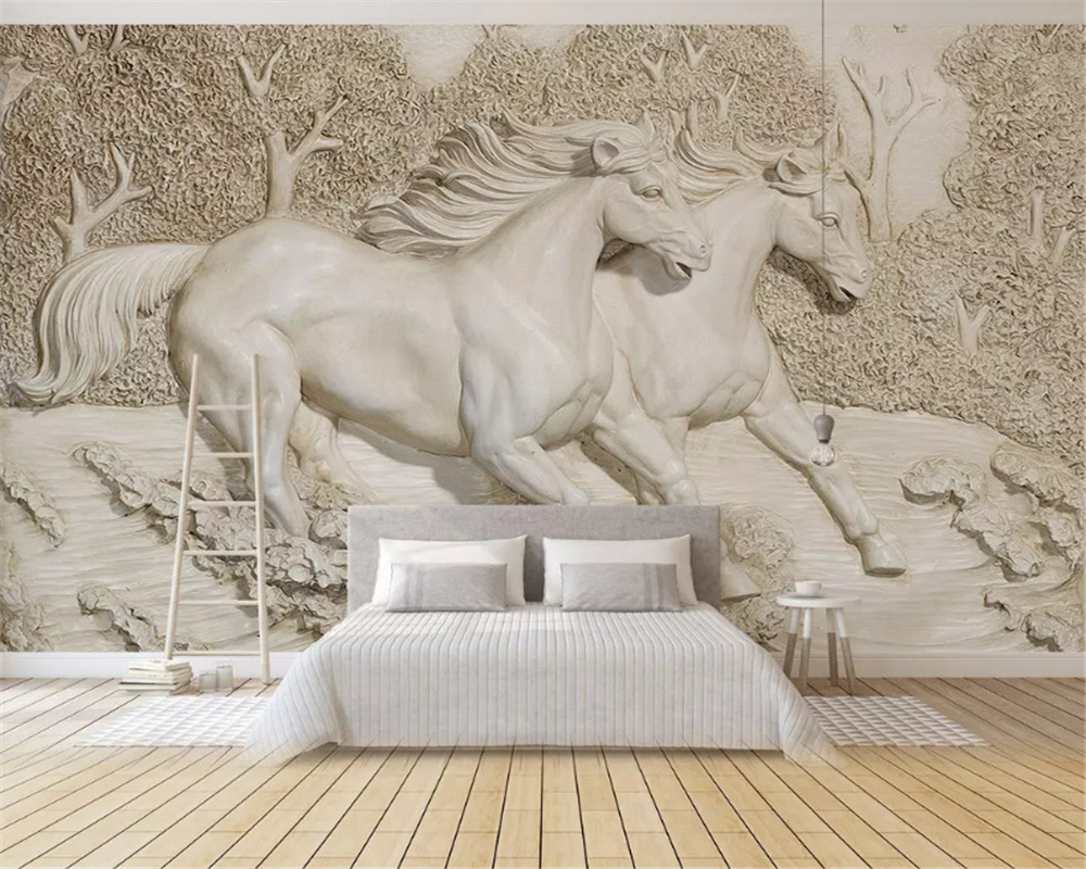 beibehang Custom fashion classic papel de parede wallpaper Nordic minimalist animal unicorn hand-painted childrens background