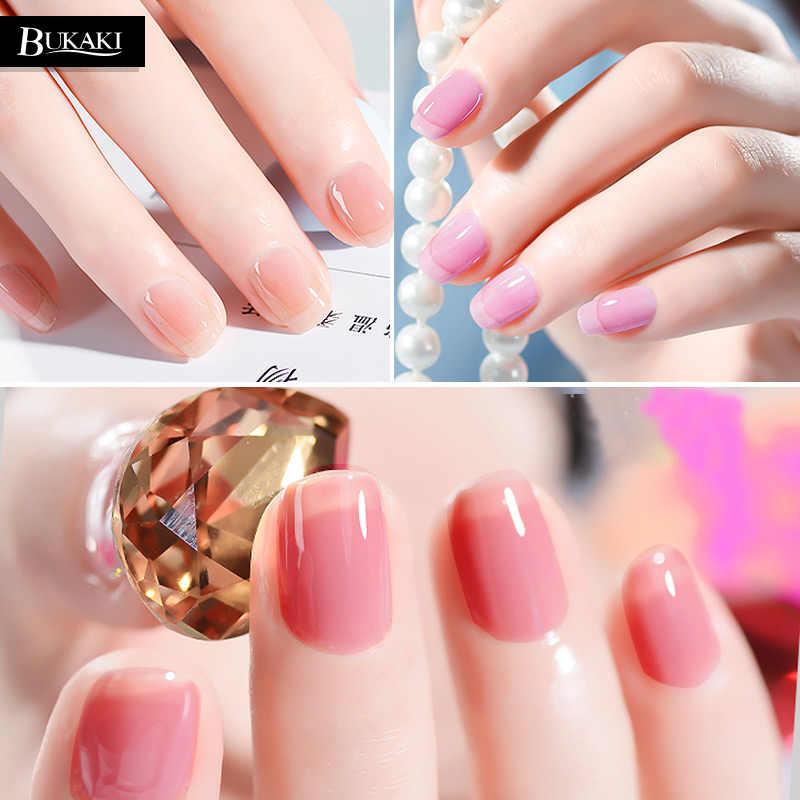 ... BUKAKI 1pcs Opal Jelly Nail Polish Nail Art Tips Design UV Gel Varnish Hybrid Transparent Sugar ...