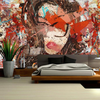 Big Wall Decor Abstract Beautiful Color Mosaic Custom Wallpaper Murals Wall Design Ideas For Living Room