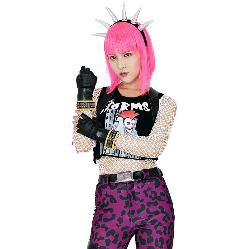 Power Chord Cosplay Costume Halloween Spandex Women Adult Cosplay