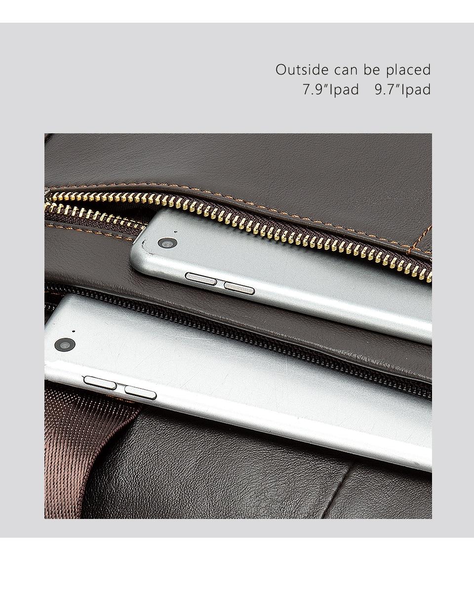 HTB1AHJPVYrpK1RjSZTEq6AWAVXaH WESTAL Men's Briefcase Men's Bag Genuine Leather Laptop Bag Leather Computer/Office Bags for Men Document Briefcases Totes Bags