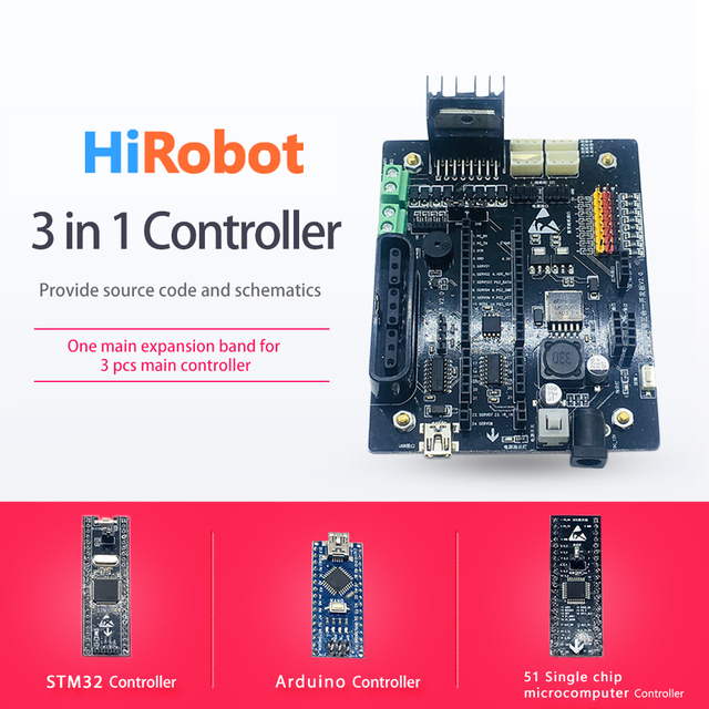 US $22 5 |3 in 1 Controller, 2ch 4ch DC Motor driver 8 way Servo Drive  expansion Board, for Arduino 2wd 4wd RC Smart Robot Tank Car-in Parts &