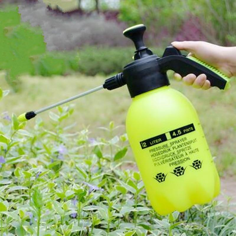 2L Hand Pressure Sprayer Plastic Long Nozzle Pump Type For Garden Flower Irrigation Garden Watering Supplies