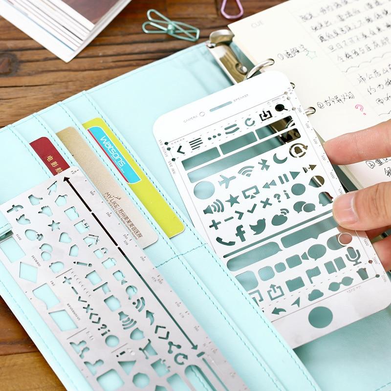 Creativo iphone 6/6 s plus web ui ritaglio disegno stencil metallo fai da te righello segnalibro per notebook planner schizzo in acciaio inoxCreativo iphone 6/6 s plus web ui ritaglio disegno stencil metallo fai da te righello segnalibro per notebook planner schizzo in acciaio inox