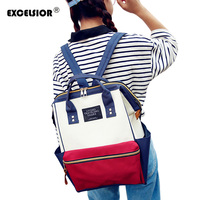 EXCELSIOR New Arrivals Women Backpack For 15inches Laptop Backpack Large Capacity Casual School Bag Panelled Mochila