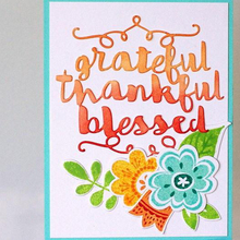 Word Grateful Thankful Blessed Metal Cutting Dies Silver Stencil For Scrapbooking Album Photo Paper Card Craft Fun New 2019