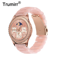 Women Resin Watchband 20mm for Samsung Gear S2 Classic (SM R732/R735) Galaxy Watch 42mm (SM R810/R815) Quick Release Band Strap