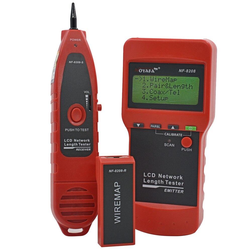 NOYAFA NF-8208 Ethernet LAN testeur de câble réseau détecteur Inspection Cat5e Cat6e RJ45 traqueur de fil diagnostiquer le traceur de tonalité