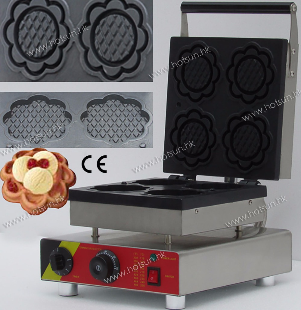 Commercial  Non-stick 110V 220V Electric Ice Cream Corn Waffle Bowl Maker Iron Machine Baker commercial non stick 110v 220v electric ice cream fish waffle taiyaki iron maker baker machine