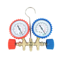 Pressure gauge manufacturers supply air conditioning and fluoride pressure gauge double meter car air conditioning pressure gaug
