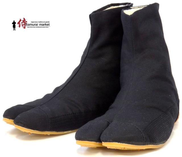 Top Quality Ninja Shoes Samurai Shoes Tabi Rikio Fighter Black Jikatabi Tabis Height Increasing Shoes Ninja Weapon Made In Japan