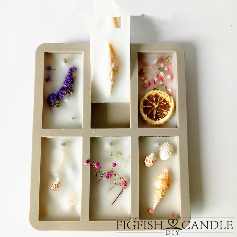 DIY aromatherapy wax flower ornaments silicone mold super flow