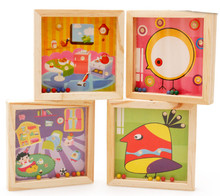 New wooden toy maze game early childhood educational toys Free shipping