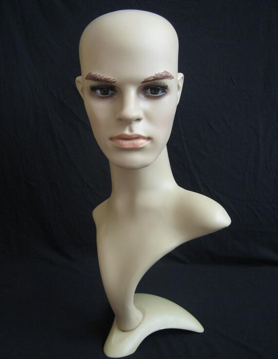 display mannequin head,hair wig head hat,mannequin heads for sale display, headphones Suitable,mannequin male M00488
