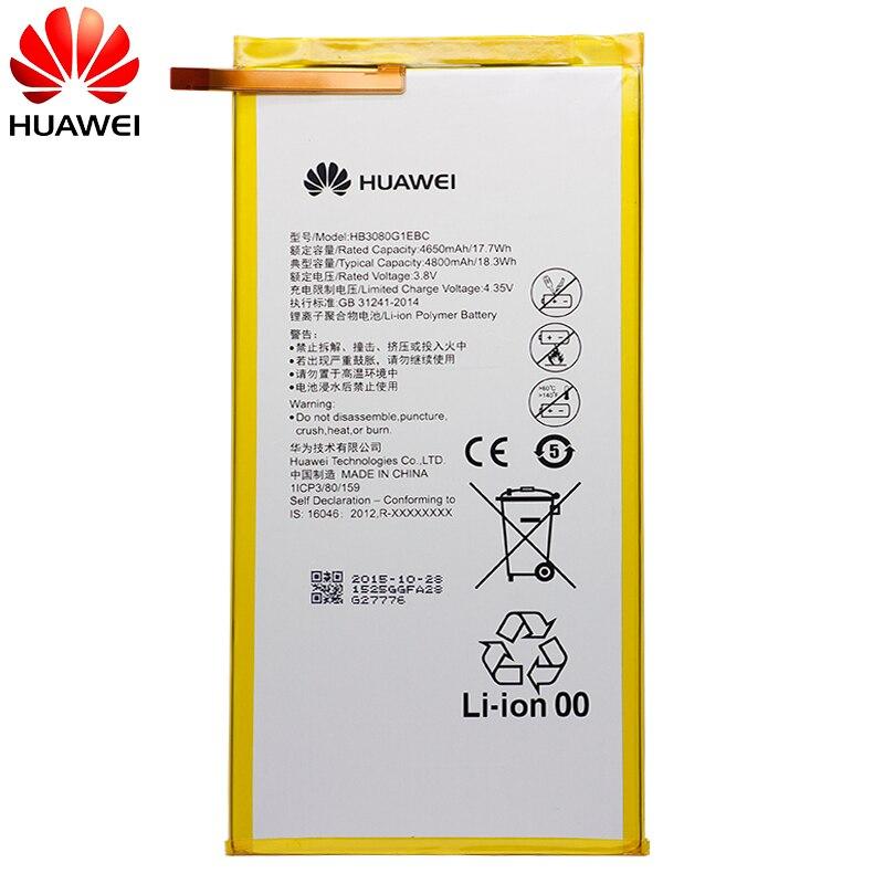 Image 3 - Hua Wei Original Phone Battery HB3080G1EBC for Huawei T1 821W/823l M2 803L Honor S8 701W Mediapad M1 8.0 4800mAh-in Mobile Phone Batteries from Cellphones & Telecommunications