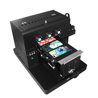 A4 Small size UV Printer LED with emboss effect Golf UV Flatbed Printer Phone Case Printing Machine for Phone Case Leather TPU