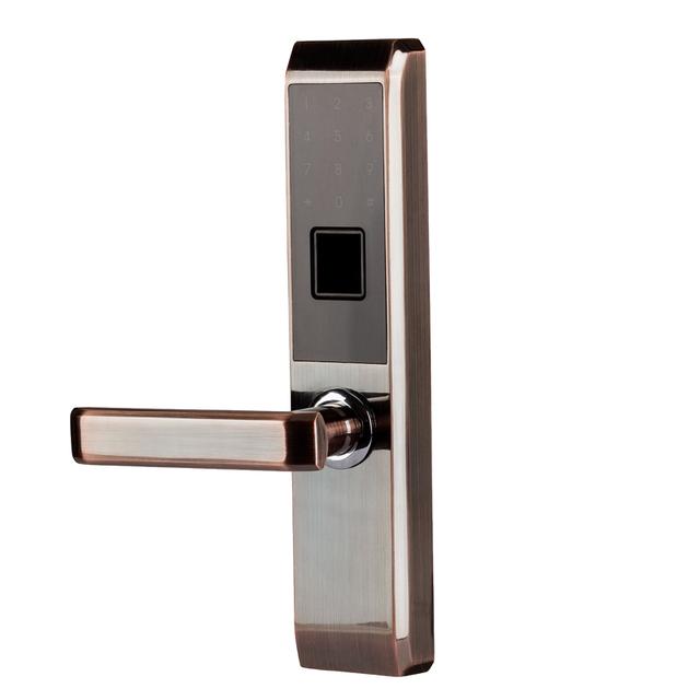 LACHCO 2019 Biometric Fingerprint Electronic Smart Door Lock, Code, Card,Touch Screen Digital Password Lock Key for home lk18A2F