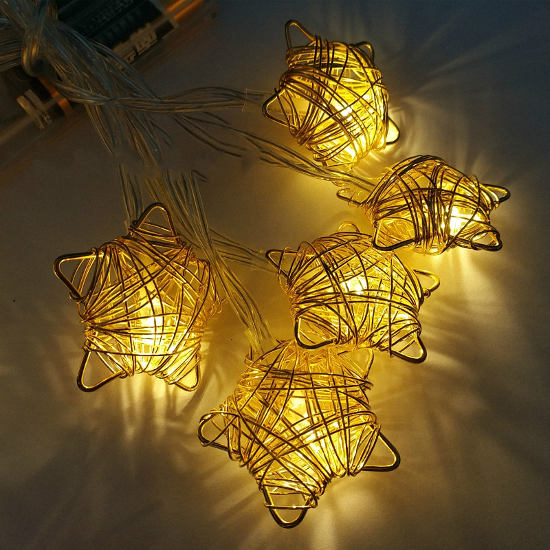 Breathtaking Creative Birthday Gift Stars String Lights Wire Winding Mini Rope Lights Glitter Table Setting 3m mental casamento