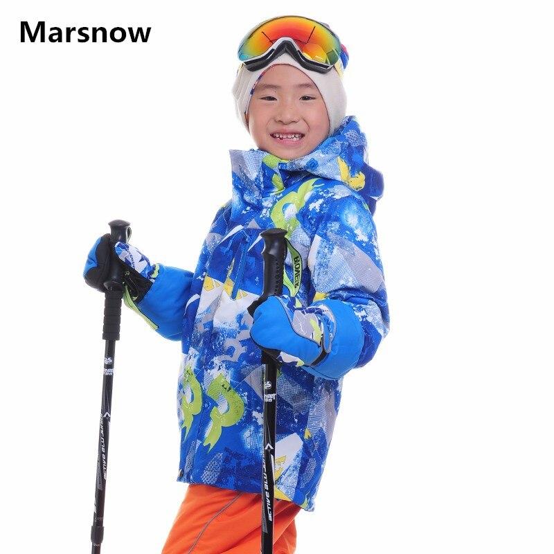 Marsnow Children Ski Jackets Kids Winter Warm Jackets for Boys Girls Waterproof Windproof Outdoor Skiing Snowboarding Jackets
