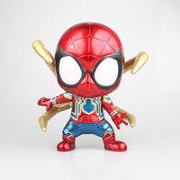 Marvel Spiderman Avengers Iron Spider Big Size Super Hero Car Accessories Figure Model Toys