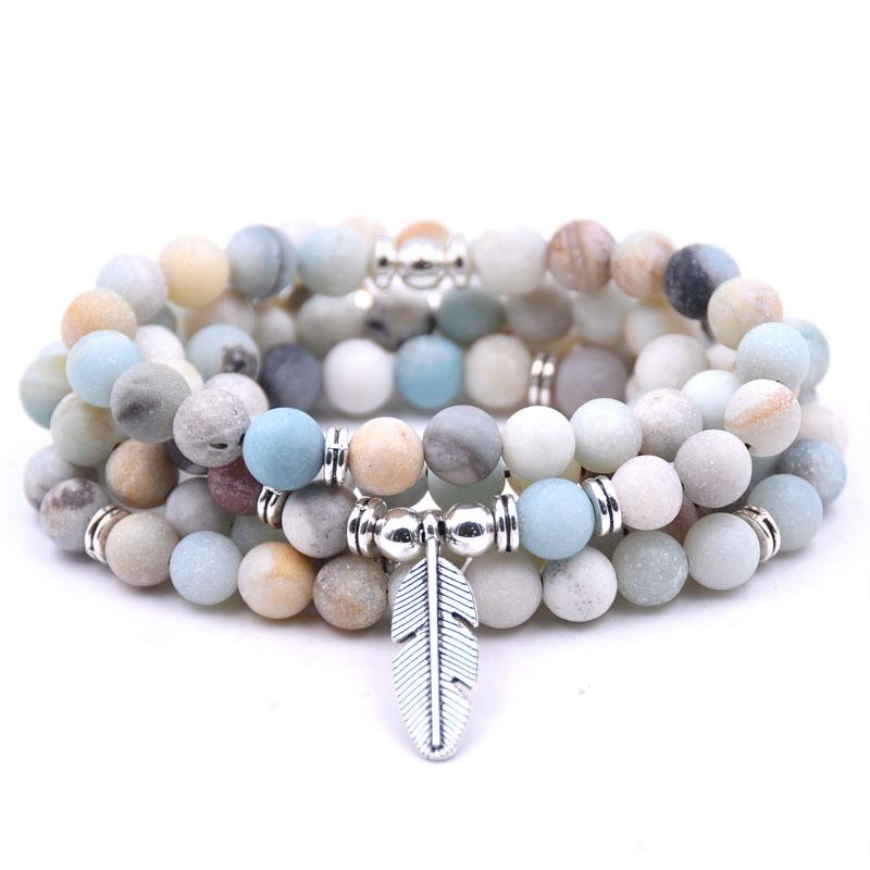 DIEZI Mode 8mm Multilayer Mala 108 Mala perlen Buddha Baum Charme Strang Armband Yoga stein Armband Für Frauen Männer schmuck