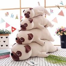 חדש חמוד בעלי החיים Kawaii כלב בובת כרית תינוק לישון ילד ילדה רך לפייס פאג Stuffedl 55cm