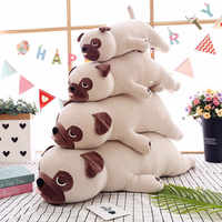 New Cute Animal Kawaii Dog Doll Pillow Baby Sleep Birthday Gift Child Girl Soft Appease Pug Stuffedl 55cm
