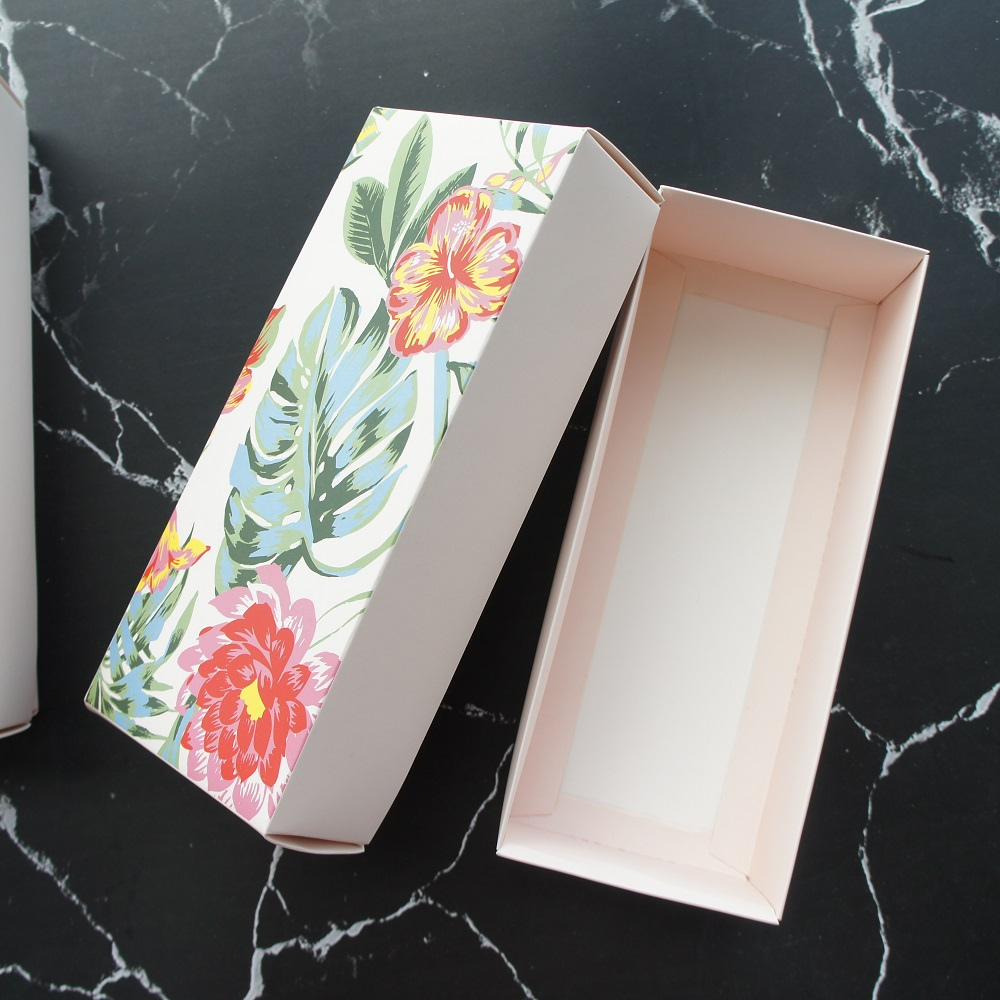 20 5 8 3 5 4cm 30pcs Tropical flower design Paper Box cookie Macaron Chocolate Storage Boxes Christmas Birthday Party Gifts Pack in Gift Bags Wrapping Supplies from Home Garden