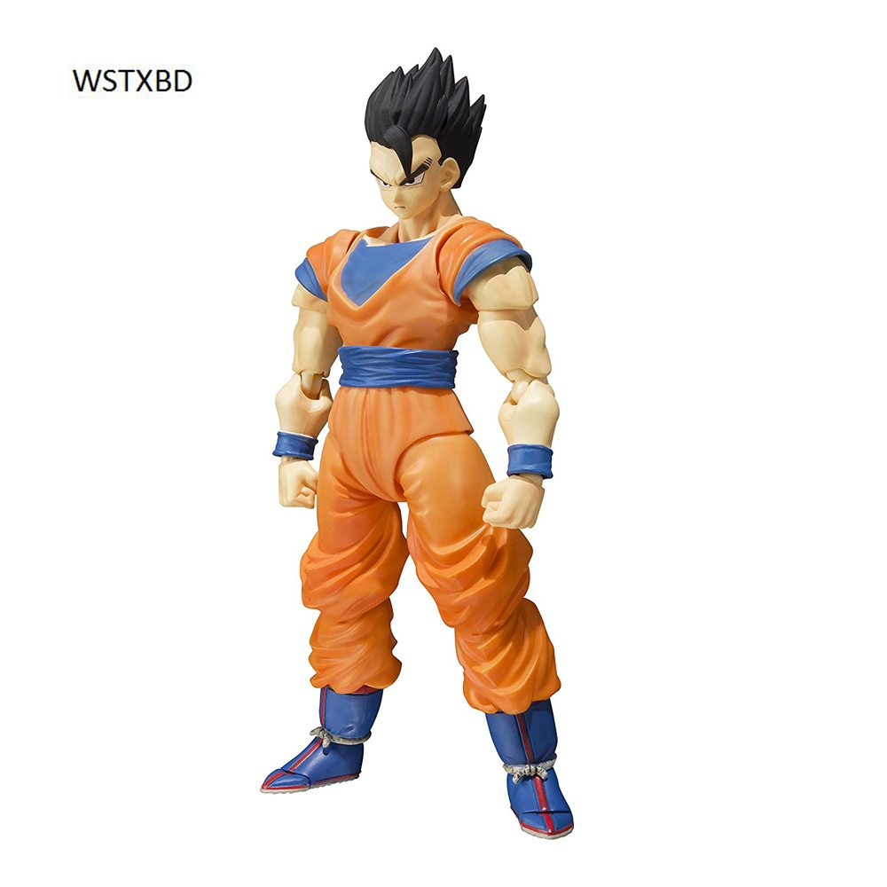 WSTXBD Original BANDAI Dragon Ball Z Super S.H. Figuarts SHF Ultimate Son Gohan PVC Figure Brinquedos Dolls Toys Figurals cmt original bandai tamashii nations s h figuarts shf dragon ball db kid son gokou action figure anime figure pvc toys figure