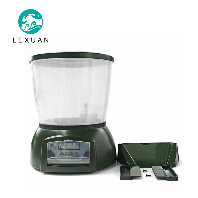 Alimentation automatique pêcheur aquarium réservoir de poisson machine d'alimentation LCD affichage calendrier quantitatif étang à poissons mangeoire 4.25L