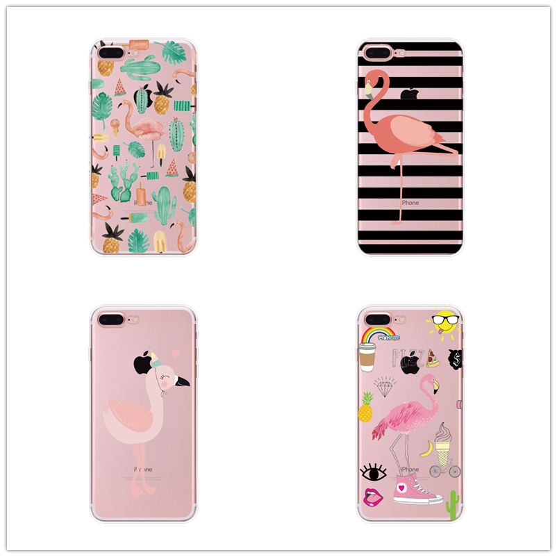 Phone Bags & Cases Cellphones & Telecommunications Novelty Fundas Phone Case Cover Fruit Perfume Bottle Flamingo Silicon Transparent For Iphone X 5 5s Se 6 6splus 7 7plus 8 Plus