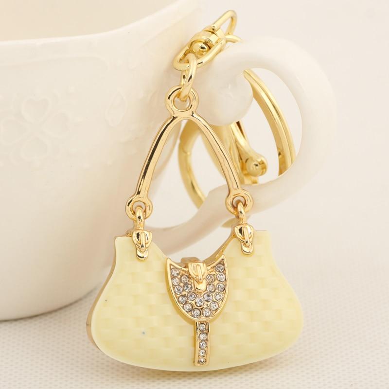 Trendy mini small designer handbag keychain fashion metal Trendy womens gifts 2015