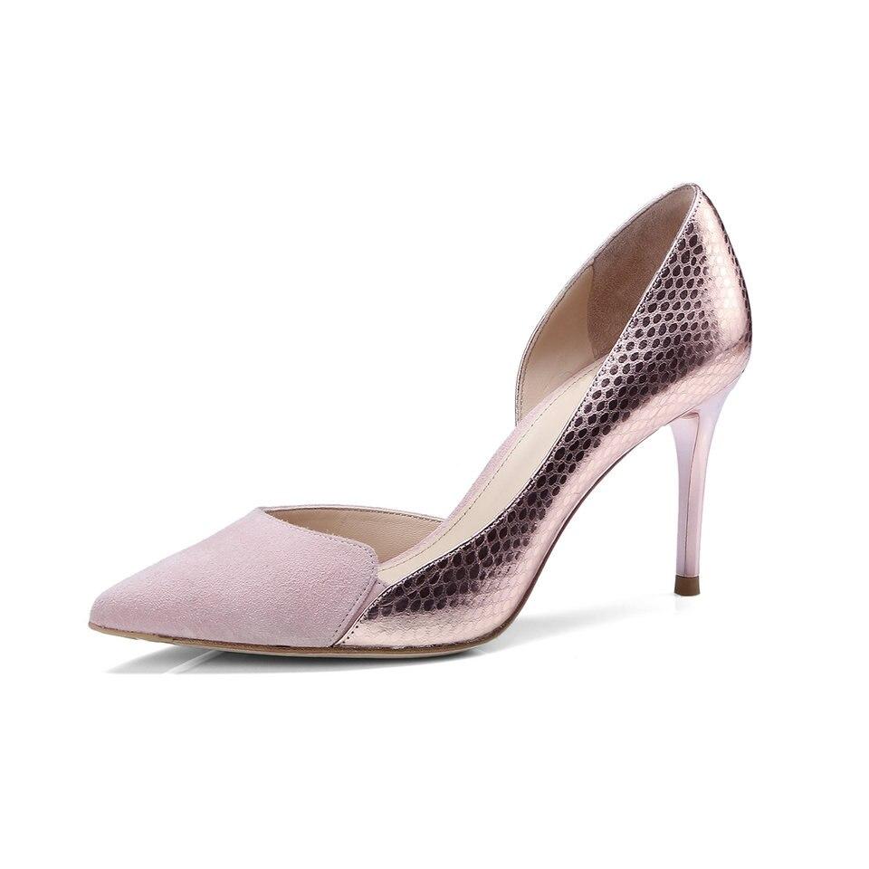 Élégant Cuir Pompes rose Chaussures 3 Talons D'été Haute Glissement Dames Femmes Mince Eshtonshero Mariage De Noir Sur 8 Bureau Femme Pu En Taille LGzpqUMjSV